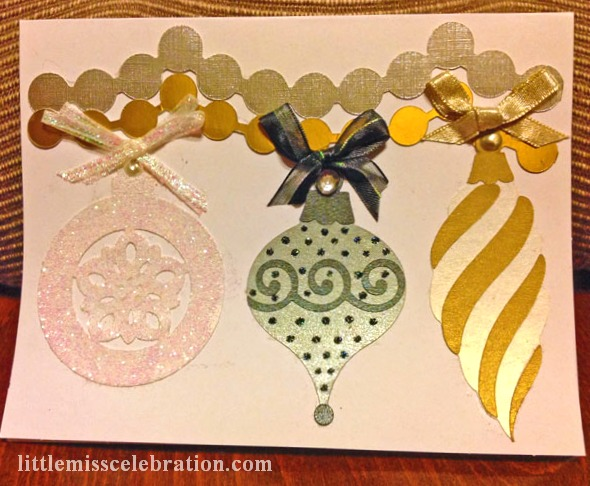 Hanging Ornaments and Garland Card
