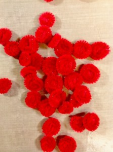 Finished chenille flowers