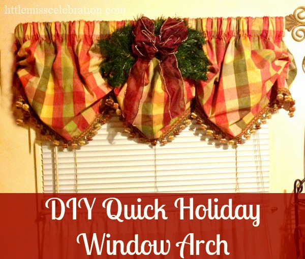 DIY Quick Holiday Window Arch