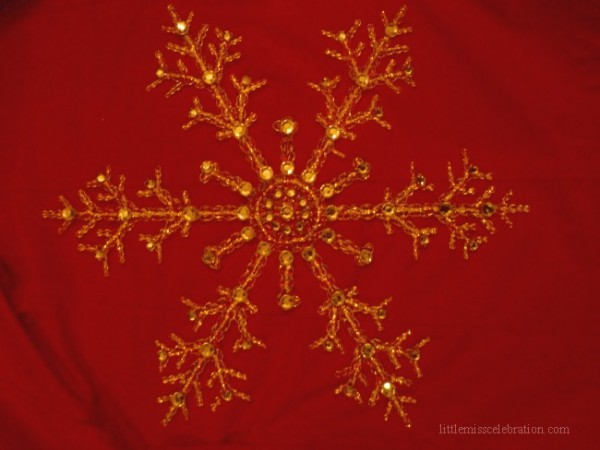 Snowflake in low light
