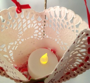 Heart with Candle inside view