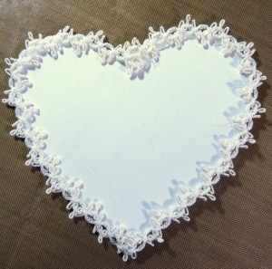 Lace trimmed heart