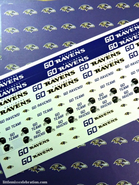 Ravens Scrapbook paper and stickers