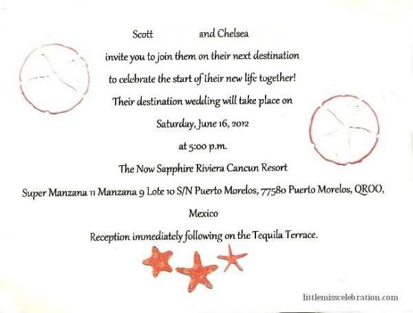 Wedding Invitation Inside