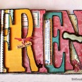"Friend Word Album, part of the Scrapbooking in a ""Word"" mini series at littlemisscelebration.com."