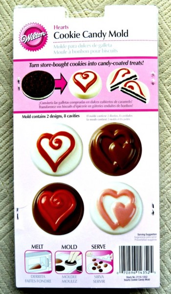 Heart cookie candy mold