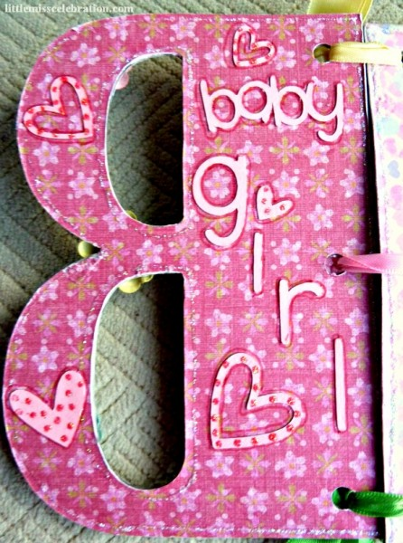 Inside of letter B for baby girl book