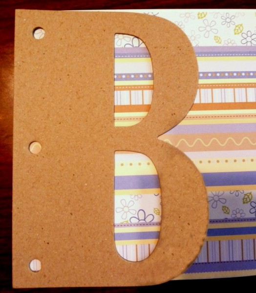 Tracing paper for inside of the letter B