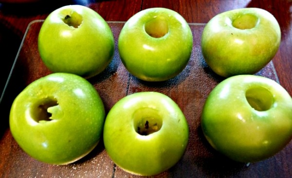 A photo of Cored Granny Smith Apples