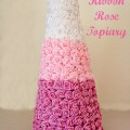 Ombre Ribbon Rose Topiary
