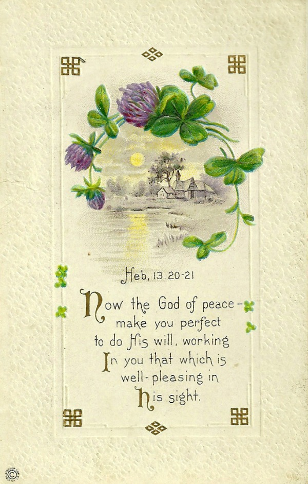 Vintage St. Patrick's Day postcard at littlemisscelebration.com