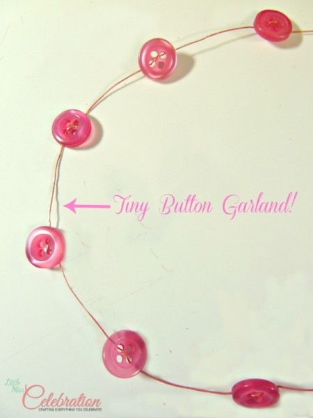 Tiny Button Garland