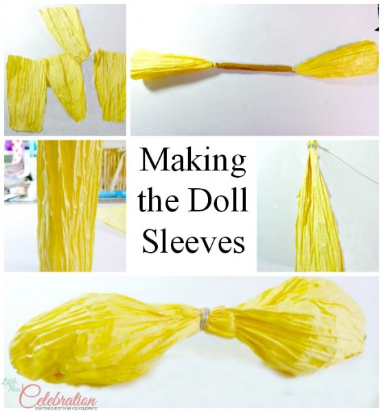 Making the doll sleeves