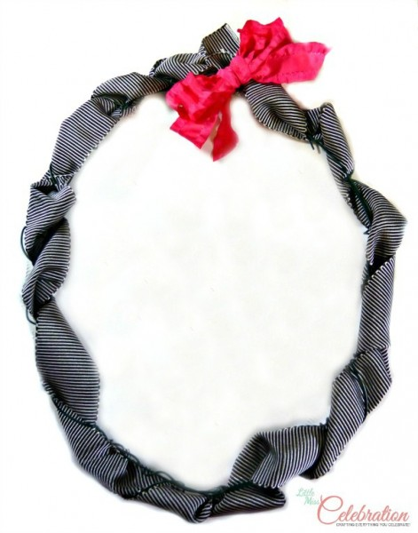 Wreath with ribbon and bow