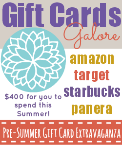 A Pre-Summer Gift Card Extravaganza Giveaway!