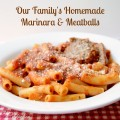 Worth every second it takes to prepare! Sharing our family's recipe for homemade marinara & meatballs at littlemisscelebration.com @CindyEikenberg