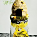 """Bee"" Beautiful Gift Jar - fill with little beauty gifts for a unique and adorable gift! Little Miss Celebration @CindyEikenberg"