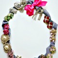 Wreath Jewelry Holder - a quick, easy and SO inexpensive way to display and access vintage or any jewelry. A great last-minute gift for Mom, too! At littlemisscelebration.com @CindyEikenberg