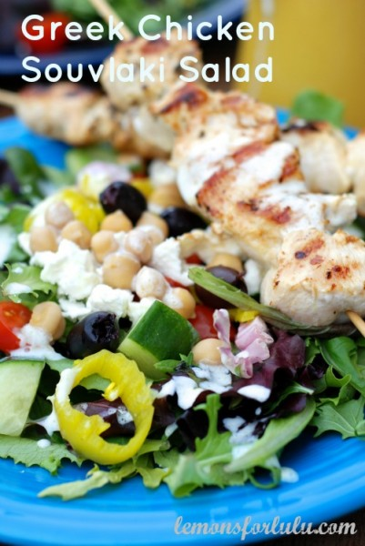 Greek-Chicken-Souvlaki-Salad from Lemons for Lulu