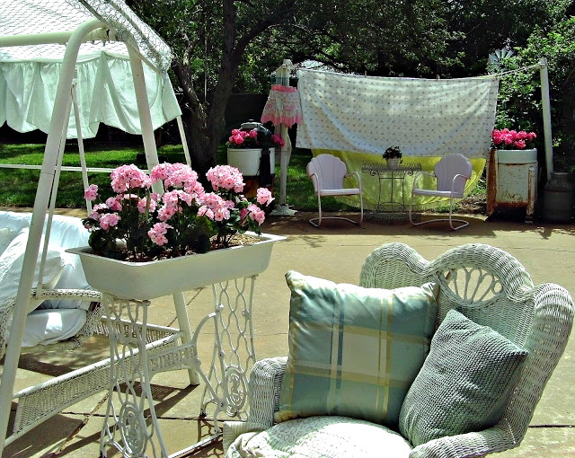 Beautiful patio from Penny's Vintage Home