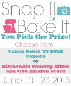 Snap It or Bake It Giveaway at Little Miss Celebration