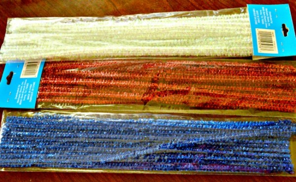 Tinsel chenille stems