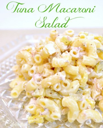 Tuna Macaroni Salad - a perfect summer salad or hearty enough for lunch! At Little Miss Celebration @CindyEikenberg
