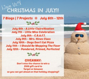 Christmas in July week kicks off at A Little Claireification