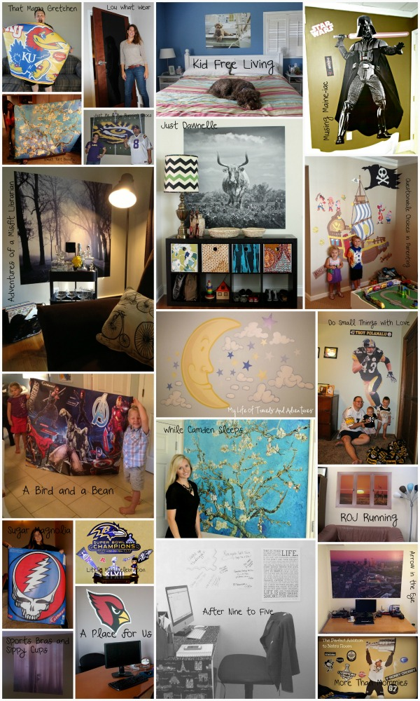 Blogger Fathead® Collage! See how you can make your passion Larger Than Life, For Real™