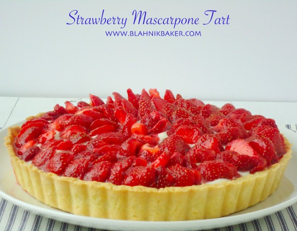 Strawberry Marscapone Tart
