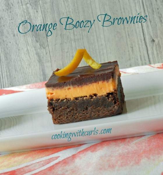 Orange Boozy Brownies from Cooking with Curls