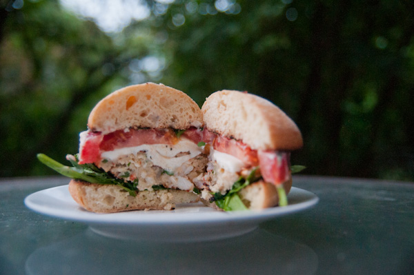 Shrimp Scampi Burgers from Sensationally Seasonal