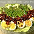 Asparagus Salad with Warm Bacon Dressing - From Little Miss Celebration, guest posting at Frugal Foodie Mama