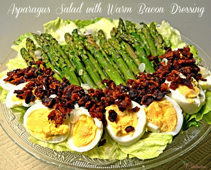 Asparagus Salad with Warm Bacon Dressing