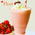 Cherry Shake Float - an easy and delicious 60's era treat! At Little Miss Celebration