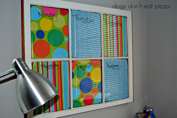 Memo Board from An Old Window from Dogs Don't Eat Pizza
