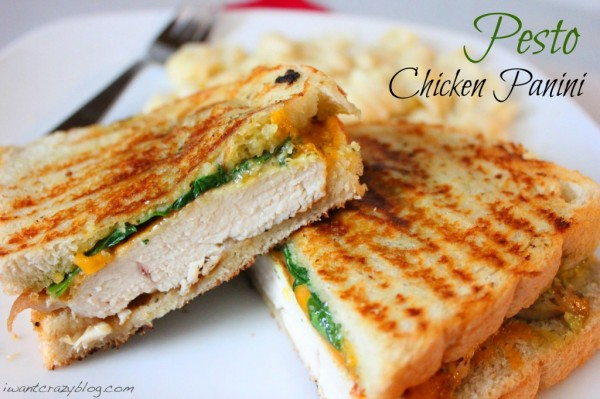 Pesto Chicken Panini from I Want Crazy