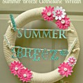 "How to make a ""Summer Breeze"" Clothesline Wreath - my homage to sweet, summer memories! At Little Miss Celebration"