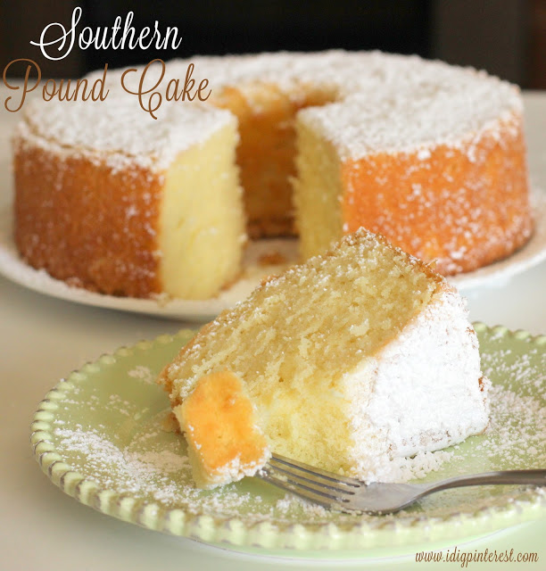 Southern Pound Cake from I Dig Pinterest
