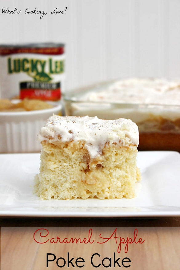 Caramel Apple Poke Cake from What's Cooking Love