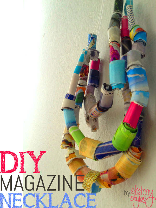DIY Magazine Necklace by sketchystyles