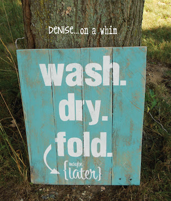 Laundry Pallet Sign from denise...on a whim