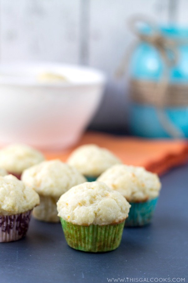 Orange Creamsicle Mini Muffins from This Gal Cooks