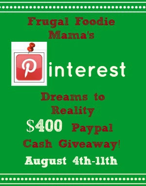 Pinterest Dreams to Reality $400 Paypal Cash Giveaway!