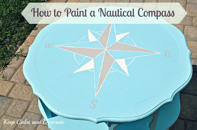 How to Paint A Nautical Compass from Keep Calm and Decorate