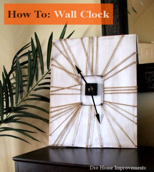 DIY Wall Clock from DIO Home Improvements