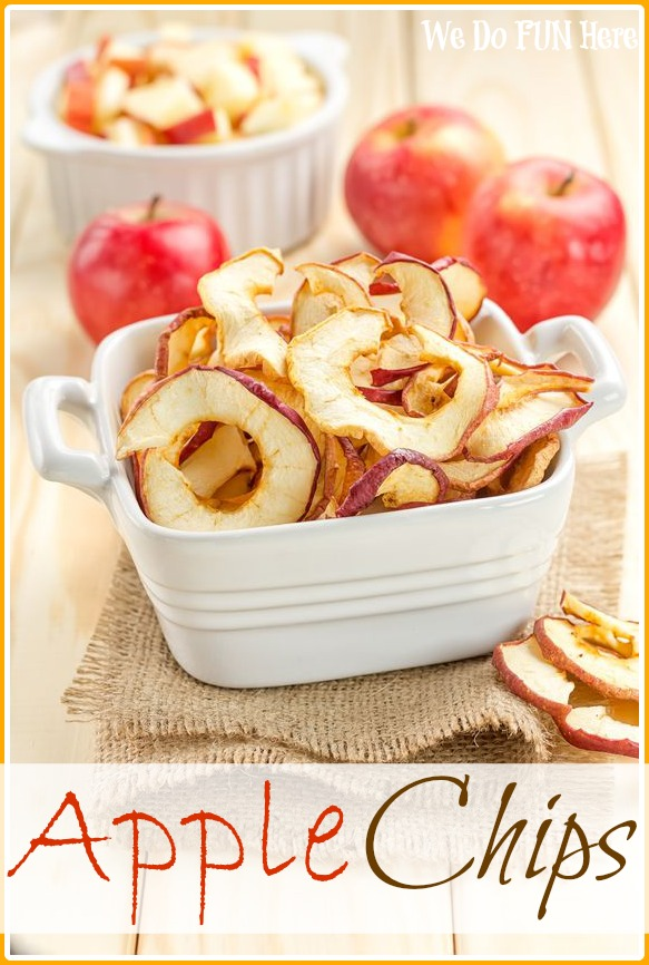 Healthy Apple Chips Snacks from We Do Fun Here