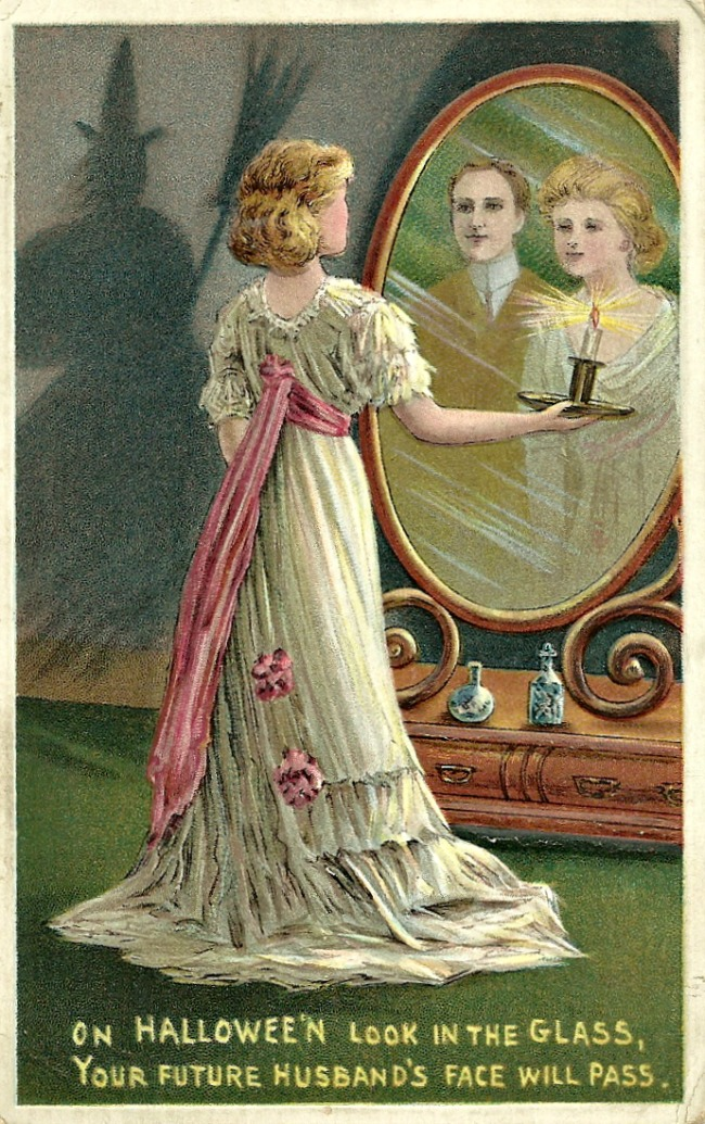 Vintage Halloween Postcards and Halloween superstitions from the turn of the century!  llittlemisscelebration.com