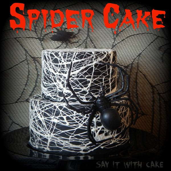 Halloween Spider Cake from Say It With Cake