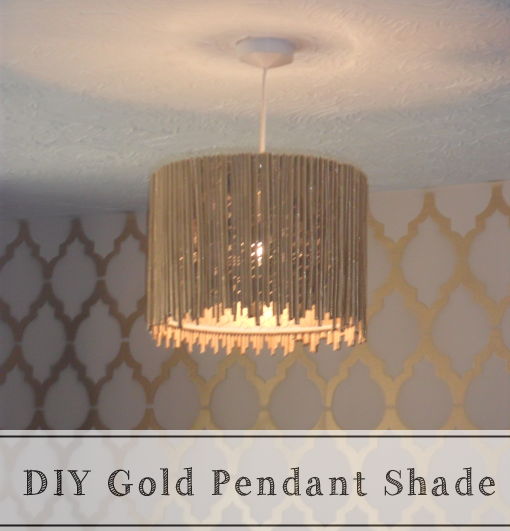 DIY Gold Pendant Shade from Every Home Is A Castle